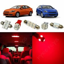 7x Red LED lights interior package kit for 2013-2017 Dodge Dart DD2R