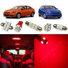 6x Red LED lights interior package kit for 2013-2016 Dodge Dart DD2R
