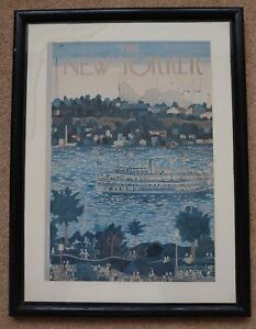 Vintage Framed The New Yorker Magazine Cover Page August 31 1957