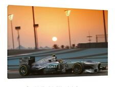 Lewis Hamilton 30x20 Inch Canvas Abu Dhabi GP Mercedes Framed Picture F1 Poster