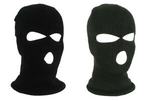 Balaclava Knitted 3 Hole Full Face Ski Winter Tactical Airsoft Paintball Fishing