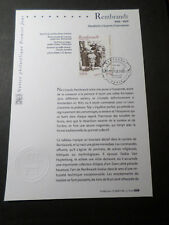 FRANCE 2006 NOTICE FDC TABLEAU REMBRANDT, ART, PAINTING, 1° JOUR