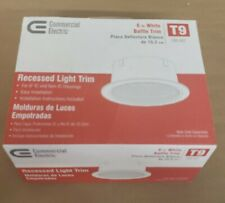 Commercial Electric 6 in. T9 White Baffle Trim