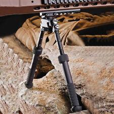"4""-9""Rifle Bipod CNC QD Tactical Picatinny Rail Flat Adjustable Hunting Black UK"
