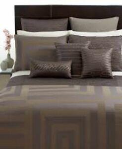 Hotel Collection Columns Geometric Jacquard Standard Pillow Sham Brown