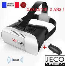 Casque VR BOX Lunettes réalité virtuelle 3D télécommande bluetooth iphone