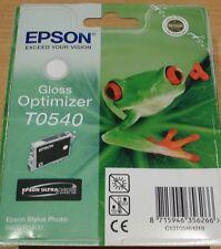 GENUINE EPSON T0540 TO540 Gloss Optimizer Cartouche Original Grenouille encre R800 R1800