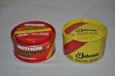 2 Cans Car Vehicle Boat Paste Wax JOHNSON & Mothers California Gold EUC