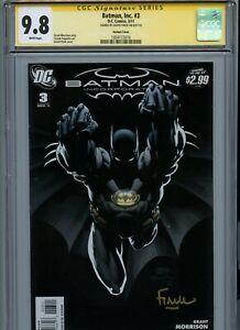 Signature Series CGC 9.8 Batman, Inc #3 Variant Finch Signed