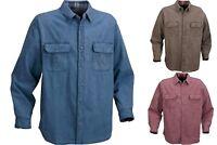 Men's Ironton Flannel Lined Button Down Canvas Shirt Choose Size & Color