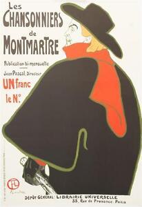 Toulouse Lautrec Les Chansonniers de Montemartre Poster Fine Art Lithograph S2