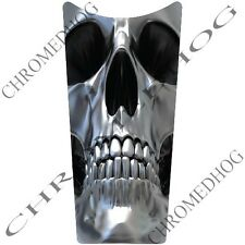 Laminated - Chrome Skull - Gas Tank Dash Console Insert for 87-07 Harley Touring