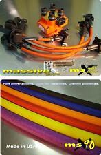 Ignition Kit MSD Coil MSX90 Performance Spark Plug Cables Wires Focus Zetec 2.0