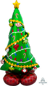 Airloonz Christmas Tree Foil Large Supershape 1.49 Mtrs Tall Air Fill