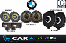 STRAIGHT FIT UPGRADE BMW 5 Series E60 E61 SPEAKERS SET FRONT REAR UNDERSEAT