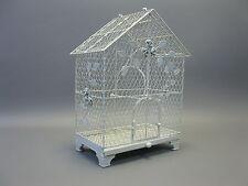 Grand Métal Nostalgie Cage À Oiseaux Déco 45cm blanc chabby chic
