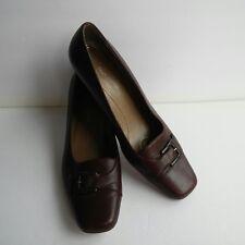 Naturalizer Womens Size 6.5 M Brown Pumps Heels Slip On Square Toe Shoe