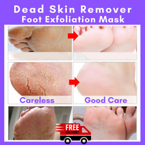 6pc Foot Feet Mask Exfoliation Skin Milky Peel Silky Dead Remove Baby Heel Scrub