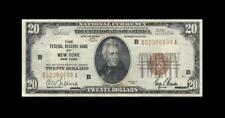 1929 FEDERAL RESERVE NOTE **NEW YORK** $20 (( EF+ ))