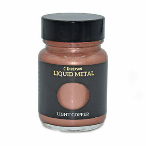 LIGHT COPPER LIQUID METAL METALLIC PAINT 30ml PAINTING LEAF GILDING CR78681D