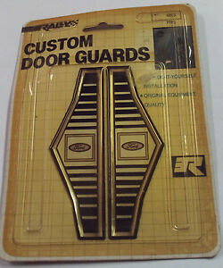 NOS Vintage Ford Custom Door Guard Trim Distinctive Custom Label