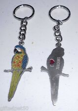 I Love Macaws Painted Pewter Key Chain