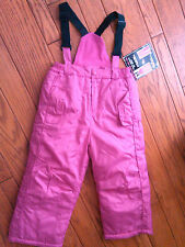 NWOT GIRLS $44.99 BRIGHT PINK CONVERTIBLE ARIZONA SKI BIBS SKI PANTS SIZE 4