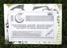 30 Variety Vegetable Heirloom Seed Kit! 5000 Seeds! Free Shipping Food Plot!