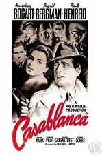 CASABLANCA MOVIE POSTER ~ FACES 27x40 Humphrey Bogart ingrid Bergman Claude Rain