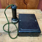 Vtg Candlestick Phone Parts Western Electric Ringer + Stromberg Carlson Receiver