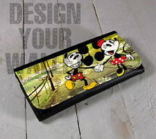 Womens Wallet Leather bifold Mickey and Minnie Mouse. Disney inspired