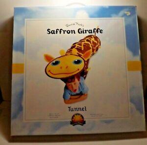 New David Kirk Sunny Patch Saffron Giraffe 5' Pop Up Play Tunnel Indoor Outdoor