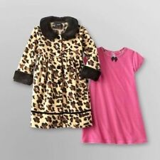 Holiday Editions Girls Brown Faux Fur Fleece Leopard Print Coat (Only) 24M NEW