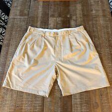 Reebok Golf Shorts Size 46 Khaki Spandex Polyester Blend Shorts
