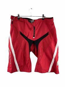 Troy Lee Designs Sprint Adult Shorts Size 36 Red Logo MTB BMX Moto Bike Zip