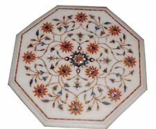 "Marble coffee corner 18"" side center Table Top inlay Pietra Dura Art"