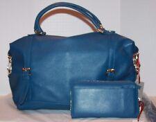 Ora Delphine Adele Satchel & Matching Iris wallet Dark Rinse