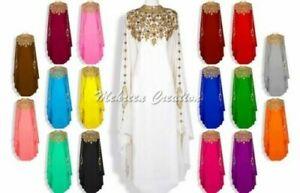 Elegant Moroccan Kaftan Abaya Maxi Farasha Floor Length Arabic Party Wear Dress