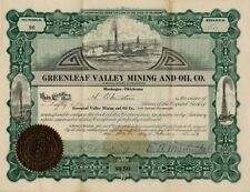 Greenleaf Valley Mining and Oil Co. - Stock Certificate