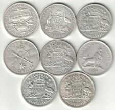 More details for australia collection of 8 florin coins 1927-1960 all listed & different