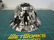 Hard Hat FULL BRIM custom hydro dipped , OSHA approved  REVELATIONS  !! NEW !