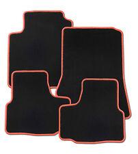 Für Fiat Idea Bj. ab 12.2003 Fußmatten in Velours schwarz mit Rand rot