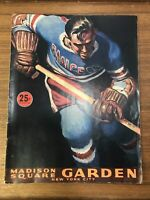 1952-53 New York Rangers Hockey Magazine and Program NYC 48 Pgs. Annual Vintage