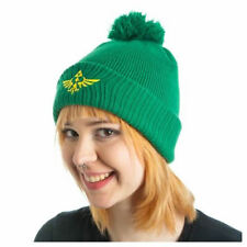 OFFICIAL THE LEGEND OF ZELDA TRIFORCE GREEN SLOUCH KNIT BEANIE HAT *BRAND NEW*