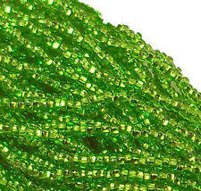 Silver Lined Light Green Czech 11/0 Glass Seed Beads 1 (6 String Hank) Preciosa
