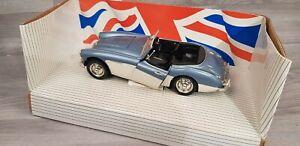 ERTL Diecast 7459 Austin Healey 100 Six 1956 Blue White 1 18 Scale Box worn