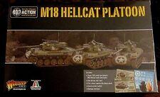 Bolt Action 402013003 WWII US M18 Hellcat Platoon (3) Miniatures Tank Destroyers