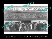 OLD LARGE HISTORIC PHOTO OF SPRINGFIELD OREGON, THE FARMERS EXCHANGE STORE c1930