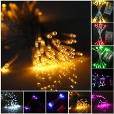 10-80 LEDS 1m-10m Guirlande lumineuse de fée Marriage décor maison lampe à piles