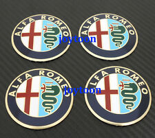 4PCS Wheel Center Cap Emblems Hubcap Stickers DECAL Alfa Romeo Cambered j5630